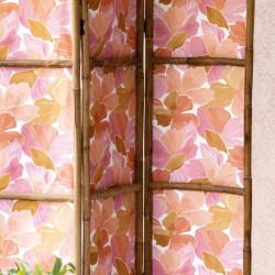 Papier peint August rose corail doré - FLOWER POWER - Caselio - FLP101884032