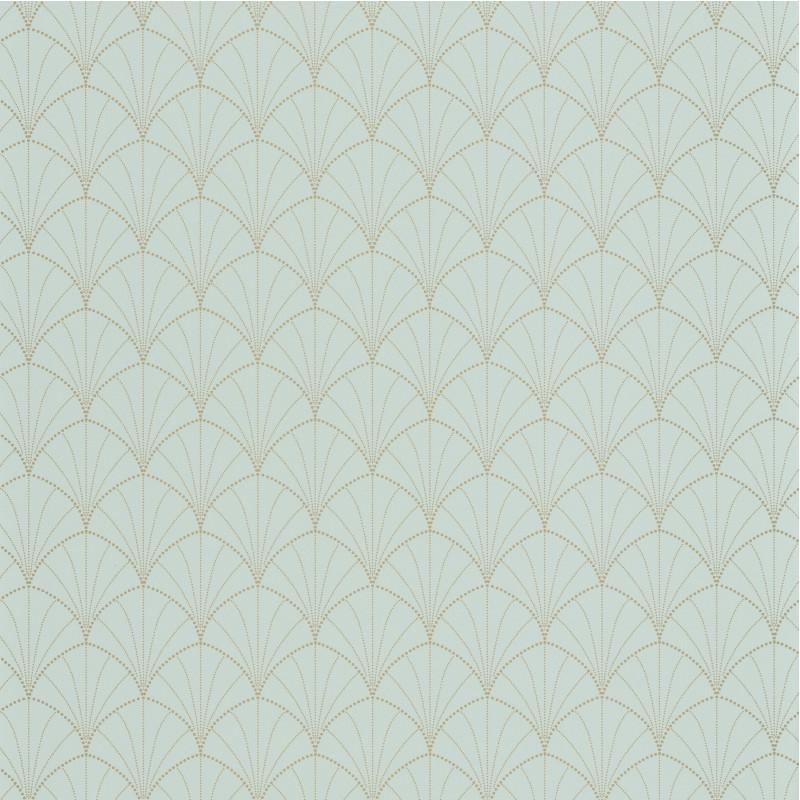 Papier peint Stardust vert amande or - THE PLACE TO BED - Caselio - PTB101827020