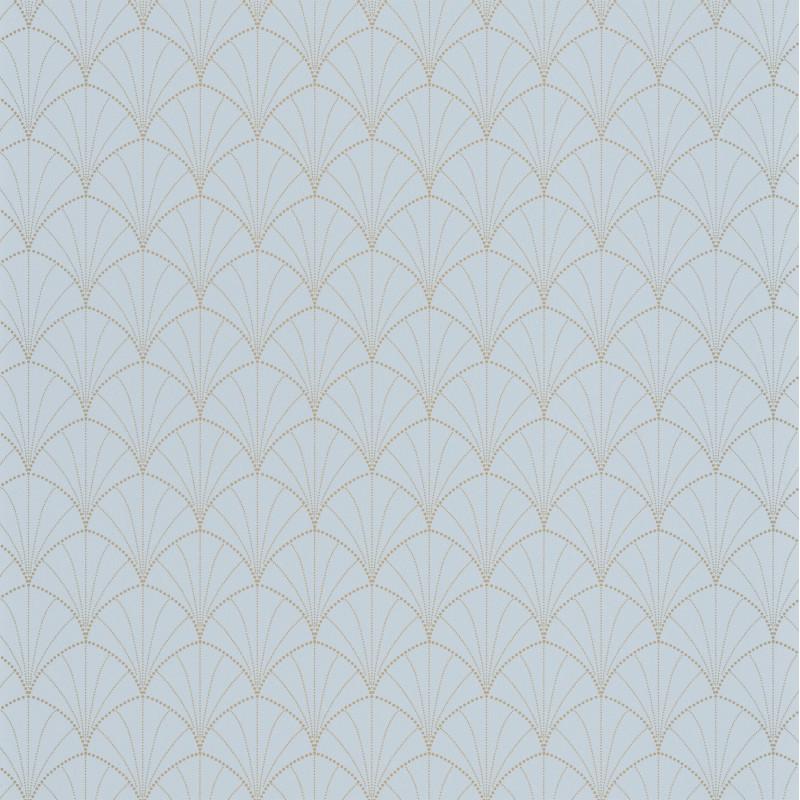 Papier peint Stardust bleu grisé or - THE PLACE TO BED - Caselio - PTB101826029
