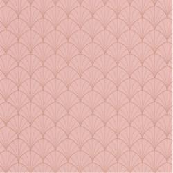 Papier peint Stardust rose pêche cuivré - THE PLACE TO BED - Caselio - PTB101824020