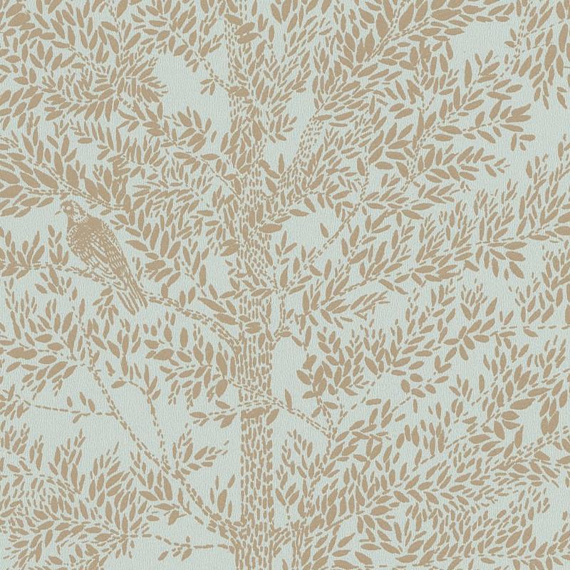 Papier peint Cosy Nest vert amande or - THE PLACE TO BED - Caselio - PTB101807028