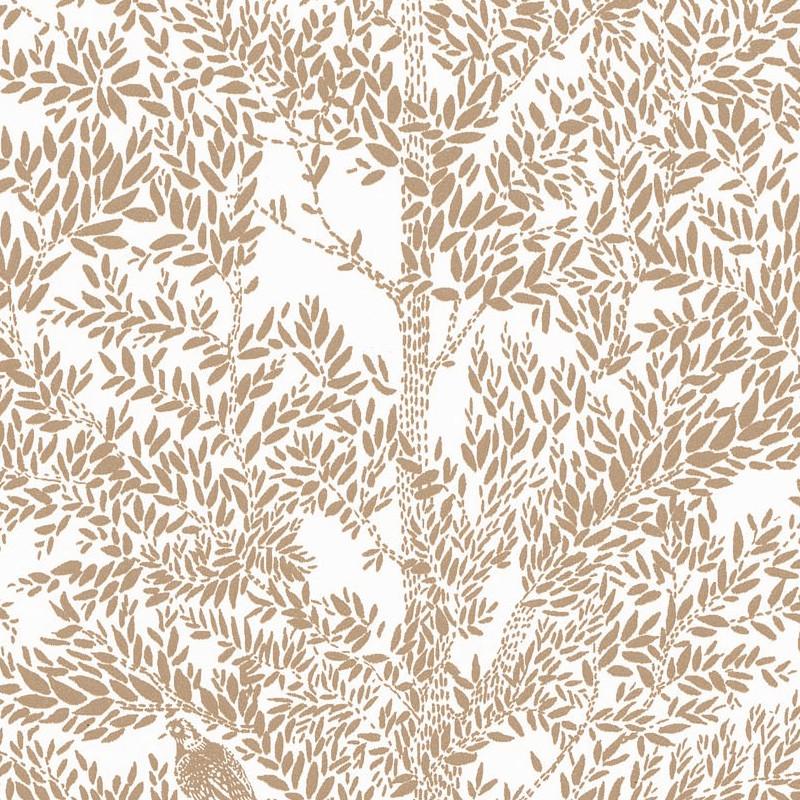Papier peint Cosy Nest blanc or - THE PLACE TO BED - Caselio - PTB101801024
