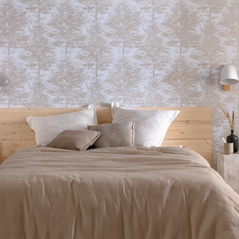 Papier peint Cosy Nest bleu grisé or - THE PLACE TO BED - Caselio - PTB101806020