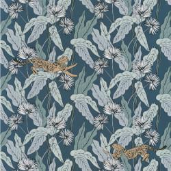 Papier peint Fantasie World bleu pétrole or - THE PLACE TO BED - Caselio - PTB101776022