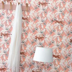 Papier peint Fantasie World rose pêche blanc cuivre - THE PLACE TO BED - Caselio - PTB101774001