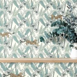 Papier peint Fantasie World vert amande - THE PLACE TO BED - Caselio - PTB101770000