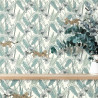 Papier peint à motif FANTASIE WORLD vert amande PTB101770000 - THE PLACE TO BED - CASELIO