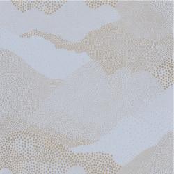 Papier peint Mister Sandman bleu grisé or - THE PLACE TO BED - Caselio - PTB101816023