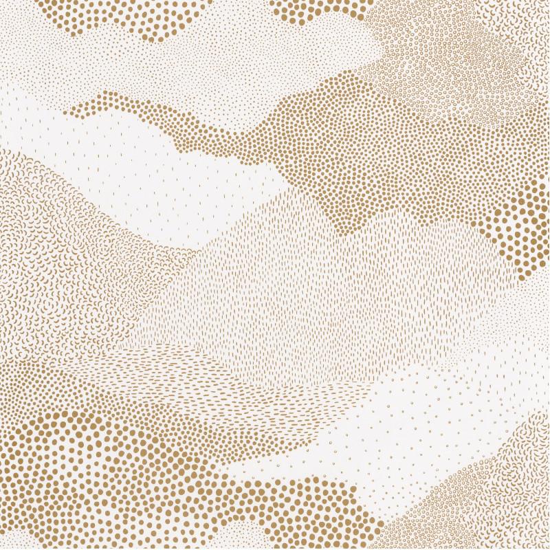 Papier peint Mister Sandman blanc or  - THE PLACE TO BED - Caselio - PTB101811027