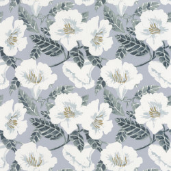 Papier peint Ding Ding Dong bleu grisé or - THE PLACE TO BED - Caselio - PTB101796006
