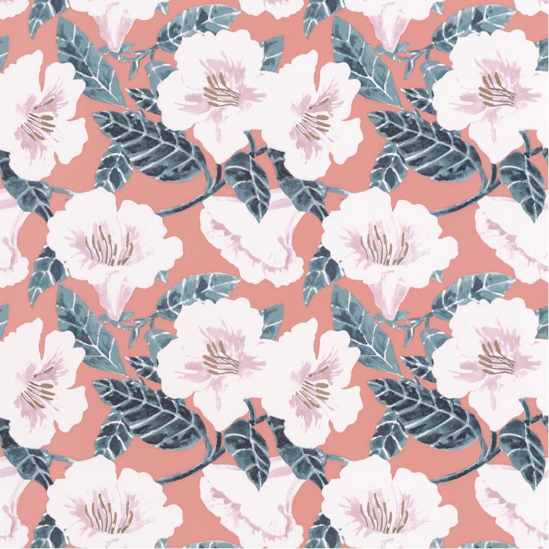 Papier peint Ding Ding Dong rose pêche cuivré - THE PLACE TO BED - Caselio - PTB101794060