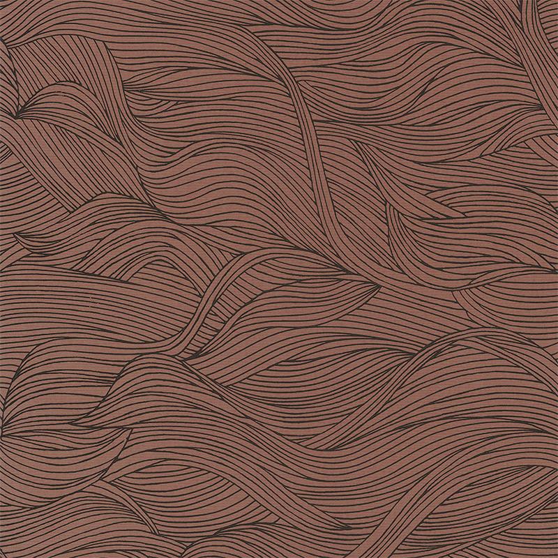 Papier peint Alula terracotta - BLOSSOM - Casamance - 74360518