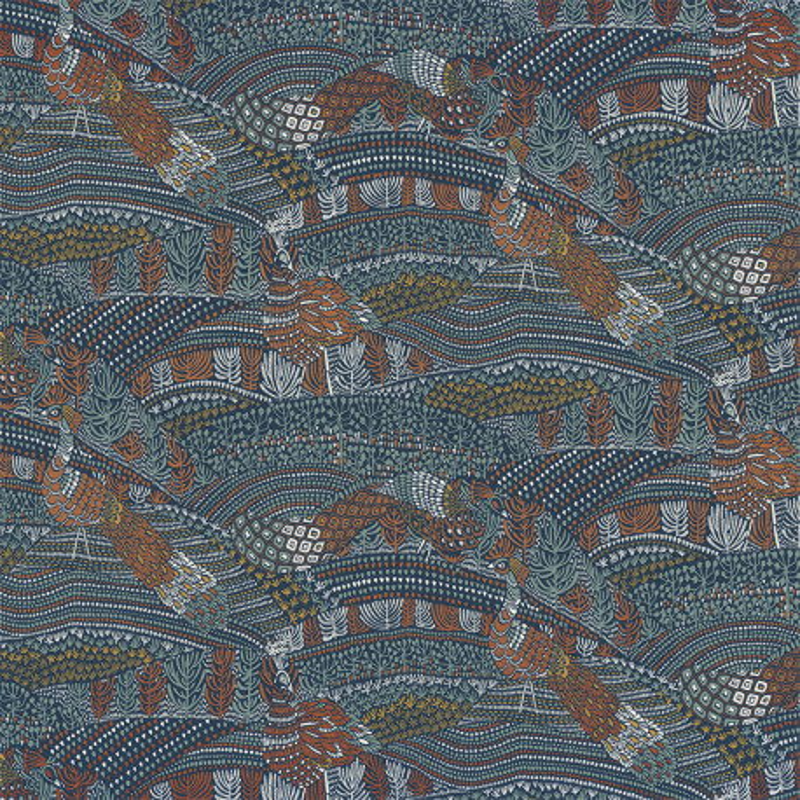 Papier peint Eden bleu - BLOSSOM - Casamance - 74330395