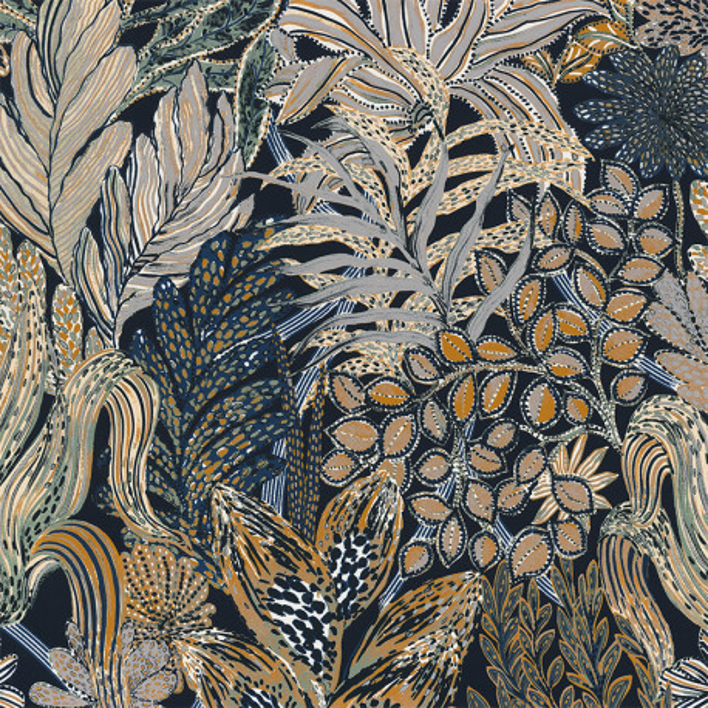 Papier peint Borromee vert - BLOSSOM - Casamance - 74320324