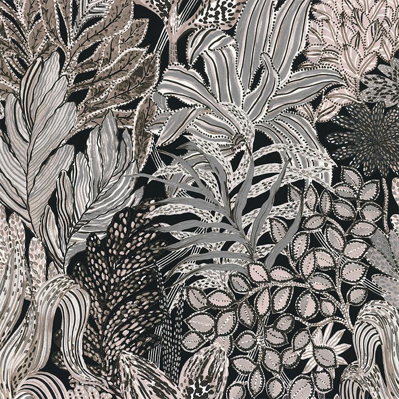 Papier peint Borromee taupe - BLOSSOM - Casamance - 74320222