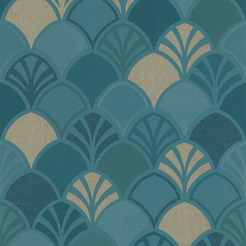 Papier peint Arcade bleu canard - PARK AVENUE - Lutèce - 51193101