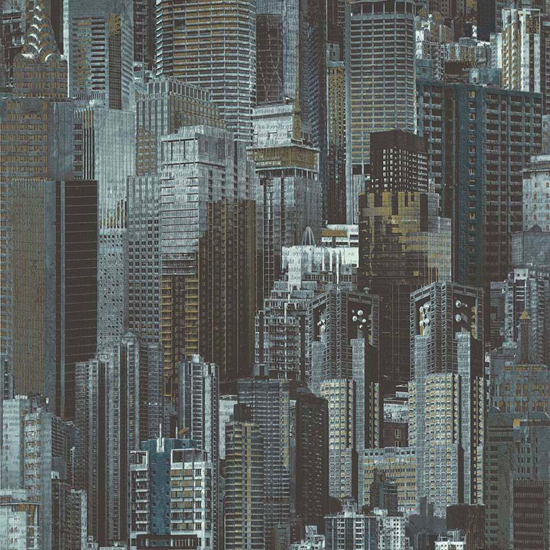 Papier peint Building bleu vert - PARK AVENUE - Lutèce - 51192404