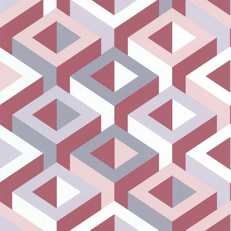 Papier peint 3D multicouleur rose - PARK AVENUE - Lutèce - 51186903