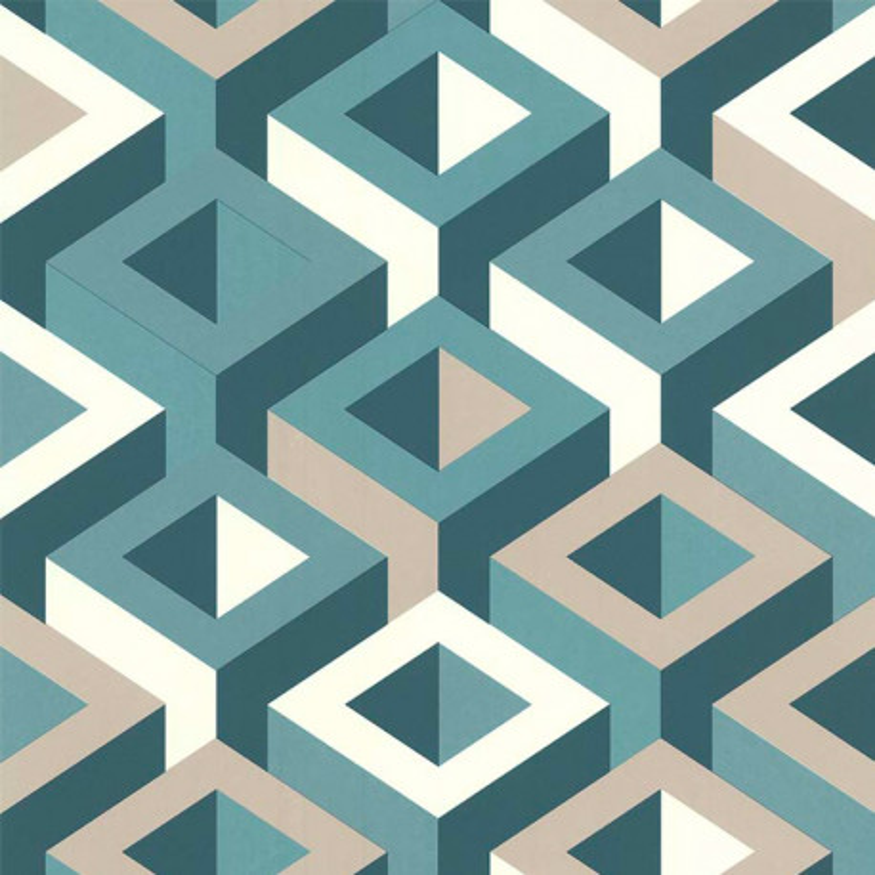 Papier peint 3D multicouleur vert - PARK AVENUE - Lutèce - 51186904