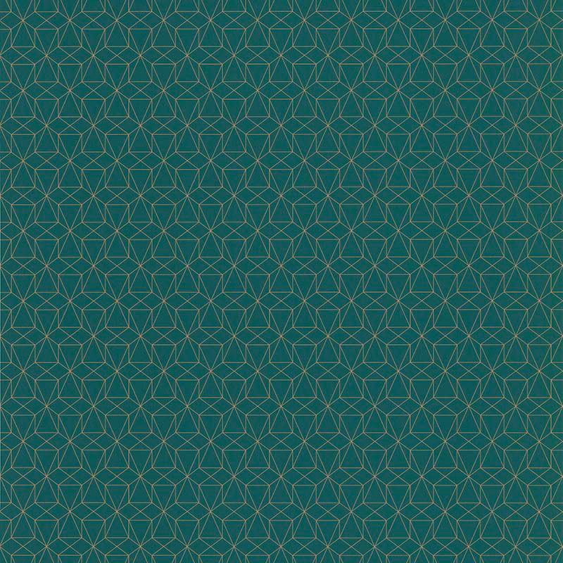 Papier peint Graphique vert émeraude - PARK AVENUE - Lutèce - 51192704