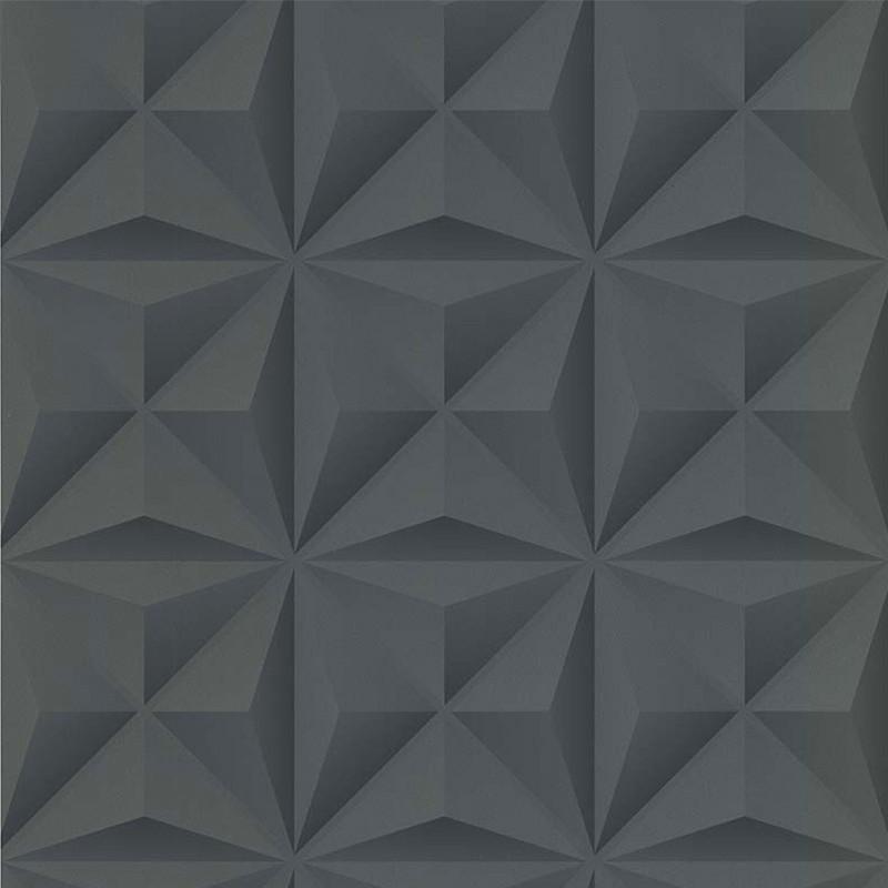 Papier peint Lys 3D anthracite - PARK AVENUE - Lutèce - 51176619