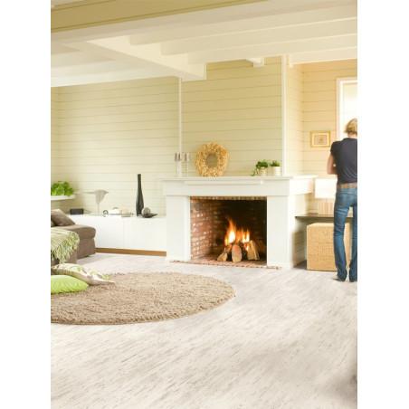 QUICKSTEP - Lames stratifiées clipsables : ELIGNA - pin blanc brossé planches