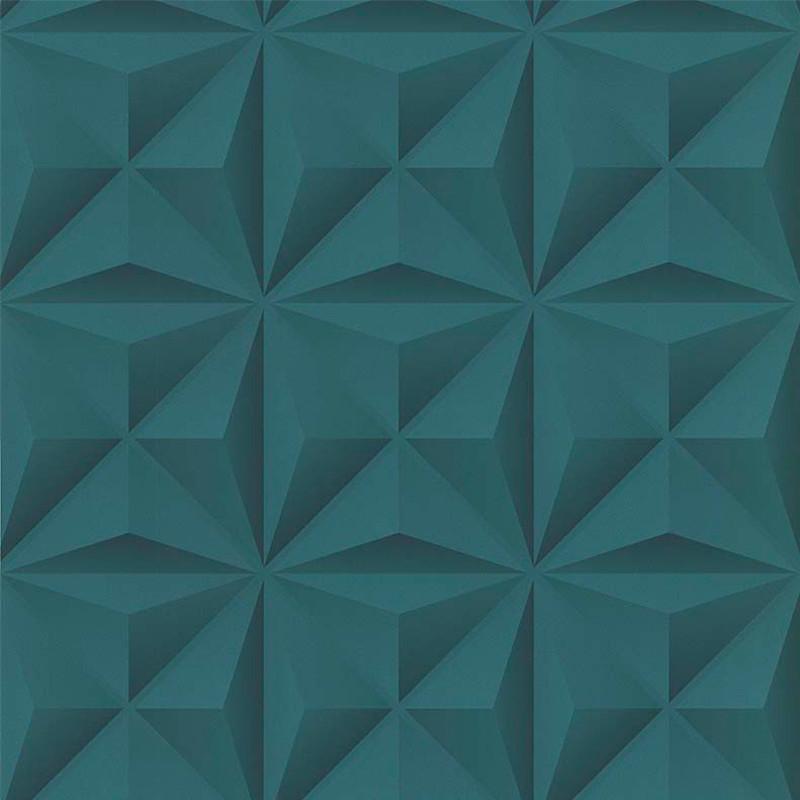 Papier peint Lys 3D vert émeraude - PARK AVENUE - Lutèce - 51176604