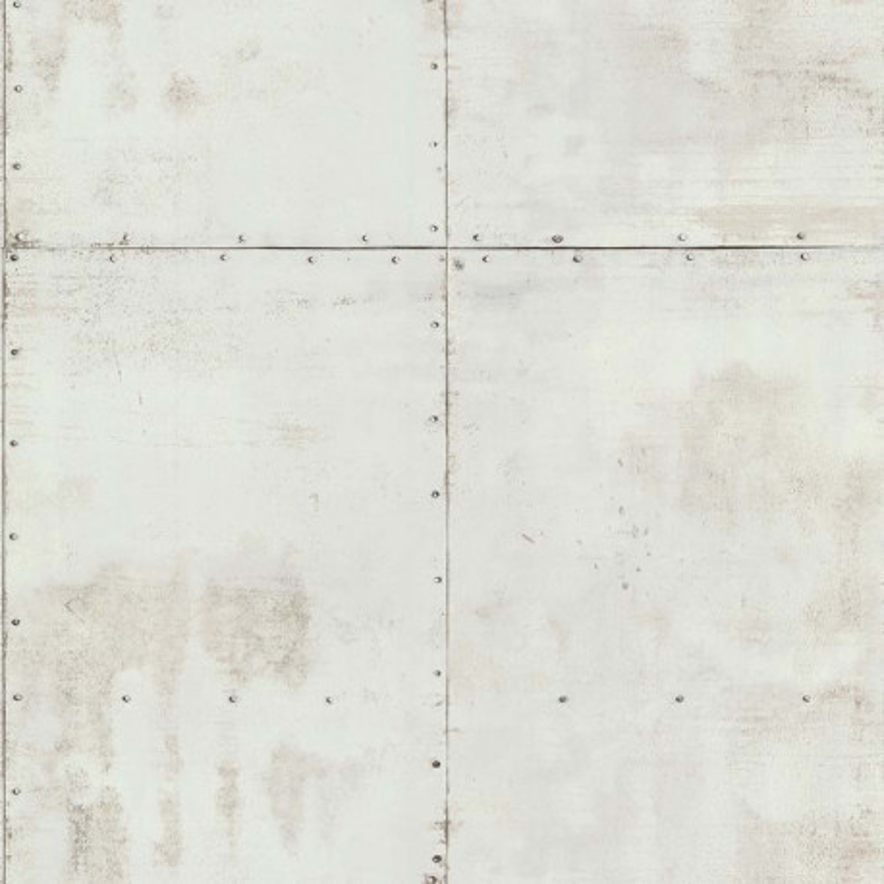 Papier peint Plaque Métal gris pâle  - PARK AVENUE - Lutèce - 51193009