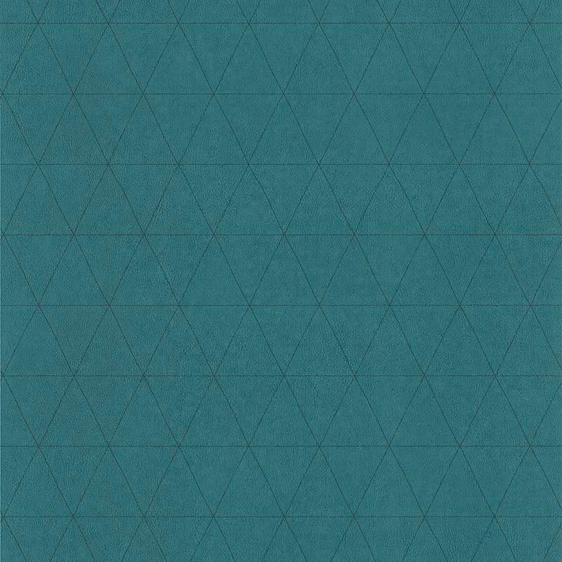 Papier peint Cuir Losange vert émeraude - PARK AVENUE - Lutèce - 51192914