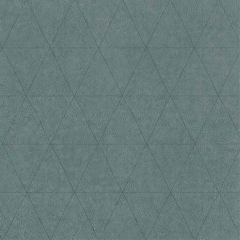 Papier peint Cuir Losange vert lichen - PARK AVENUE - Lutèce - 51192924