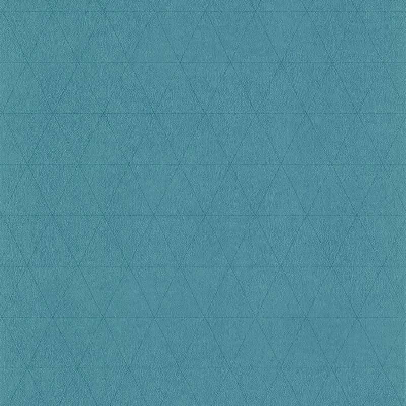 Papier peint Cuir Losange vert bleu - PARK AVENUE - Lutèce - 51192904
