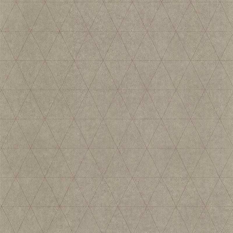 Papier peint Cuir Losange beige - PARK AVENUE - Lutèce - 51192907