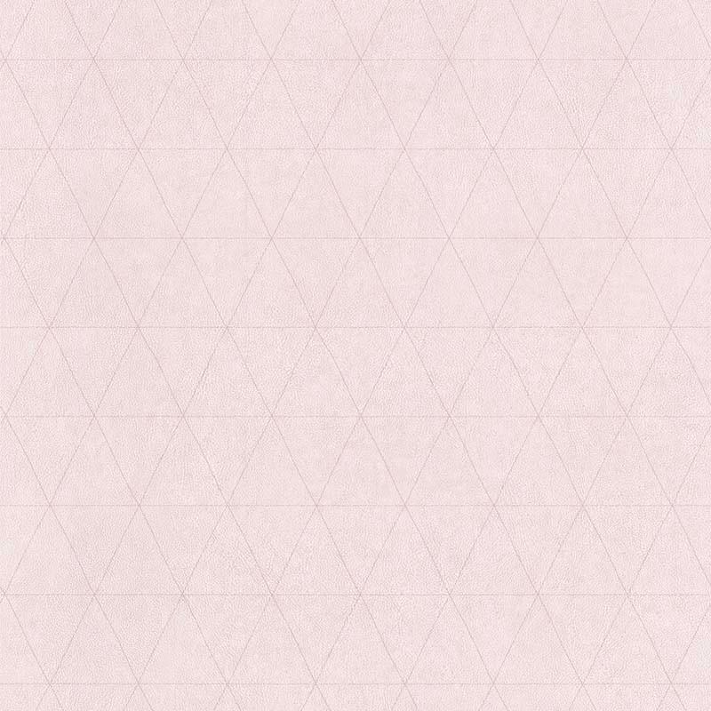 Papier peint Cuir Losange rose pâle - PARK AVENUE - Lutèce - 51192903