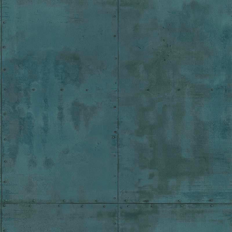 Papier peint Plaque Métal bleu vert - PARK AVENUE - Lutèce - 51193001