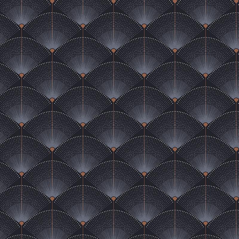 Papier peint Gala Indigo - 1001 NIGHTS - Zoom by Masureel - NIG503