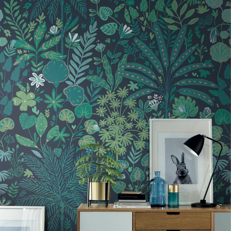Panoramique Tropical Move bleu vert émeraude - BEAUTY FULL IMAGE  - Caselio - BFI101527822
