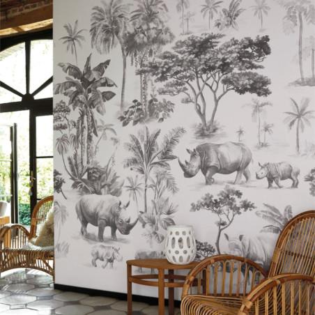 Panoramique Sweet Safari noir et blanc - BEAUTY FULL IMAGE  - Caselio - BFI101539911
