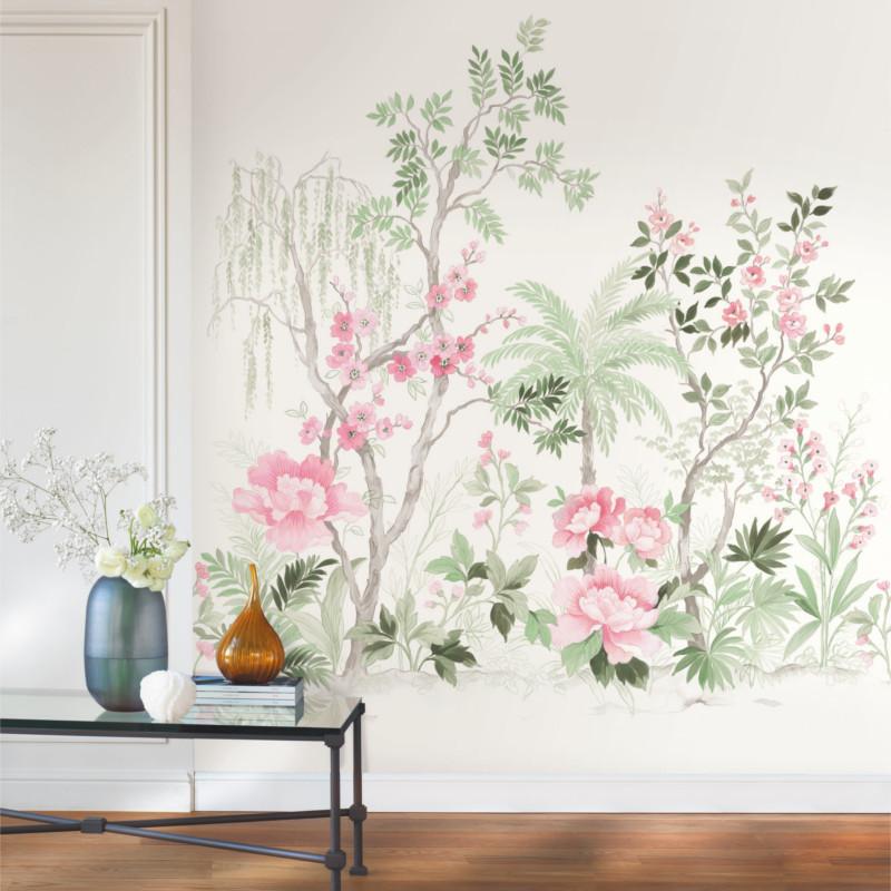 Panoramique Japanese Garden vert et rose - BEAUTY FULL IMAGE - Caselio - BFI101547100