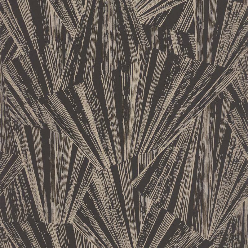 Papier peint Eclat noir irisé  - 1930 - Casadeco - MNCT85869515