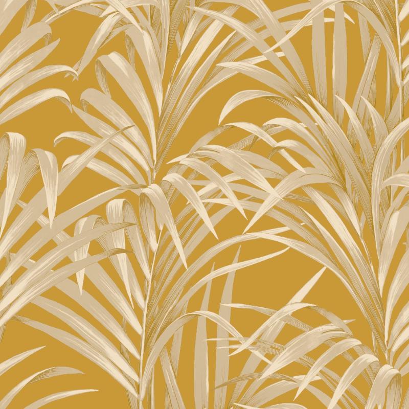 Papier peint Fougères jaune et or - 1930 - Casadeco - MNCT28922318