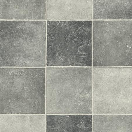 Sol PVC - Pompei D 597 carrelage gris - Fusion IVC - rouleau 3M