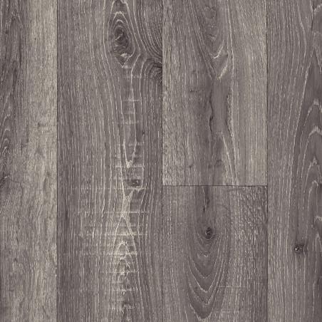 Sol PVC - Sorbonne 597 parquet bois gris foncé - Texmark IVC - rouleau 4M