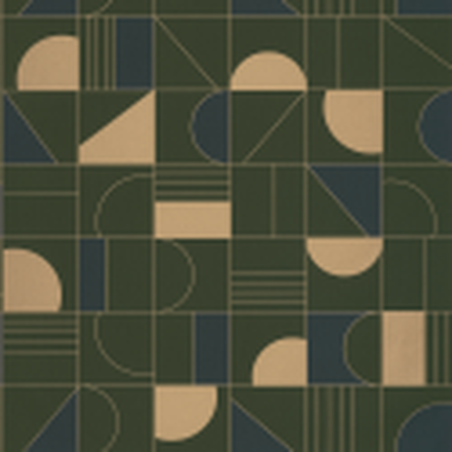 Papier peint Puzzle bleu, kaki et doré - LABYRINTH - Caselio - LBY102106179