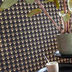 Papier peint Patch noir et doré - LABYRINTH - Caselio - LBY102139023