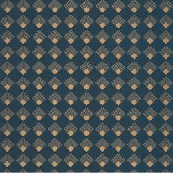Papier peint Patch bleu pétrole et doré - LABYRINTH - Caselio - LBY102136026