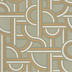 Papier peint Impass vert amande et doré - LABYRINTH - Caselio - LBY102127022
