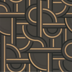 Papier peint Impass noir et doré - LABYRINTH - Caselio - LBY102129028