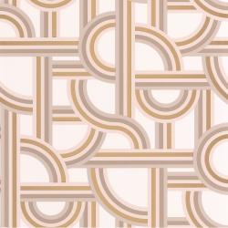 Papier peint Impass beige et doré - LABYRINTH - Caselio - LBY102121020