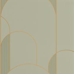 Papier peint High Walls vert amande et doré - LABYRINTH - Caselio - LBY102117020