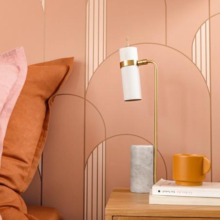Papier peint High Walls terracotta et cuivre - LABYRINTH - Caselio - LBY102114044